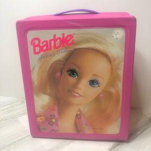Vinatge Barbie Travel Case Dolls Pink Handle
